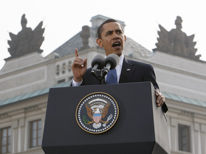"President Obama, speaking in Prague, in 2009, said: ""I state clearly and with conviction America's commitment to seek the peace and security of a world without nuclear weapons."" While Obama has pushed for a reduction in nuclear arms throughout his presidency, he has also agreed to an expensive upgrade of America's aging nuclear arsenal."
