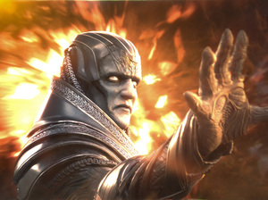 They promise us that's Oscar Isaac under there playing Apocalypse in X-Men: Apocalypse.