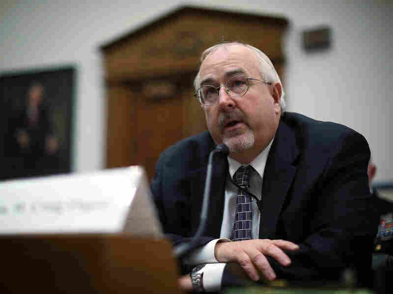 Craig Fugate testifies during a hearing before the House Transportation and Infrastructure Committee on Dec. 4, 2012, in Washington, D.C.