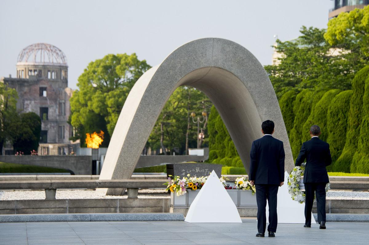Obama Makes Historic Visit To Hiroshima Memorial Peace ...