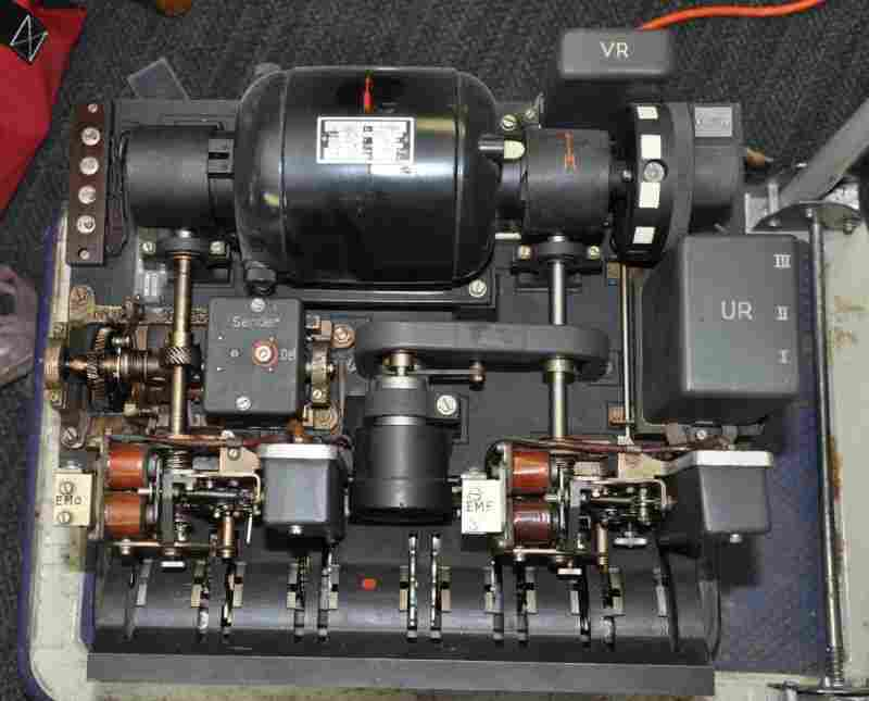 Lorenz SZ42 showing the missing motor (top) as seen in a machine in the USA.