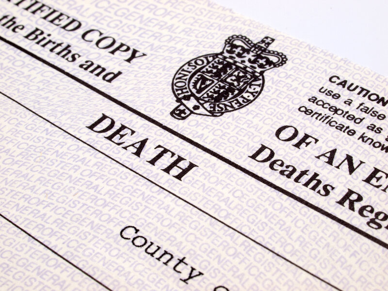 Details On Death Certificates Offer Layers Of Clues To Opioid
