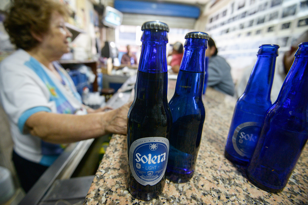 Venezuela's biggest beer producer, Polar, stopped production due to a barley shortage.