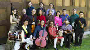 Cellist Yo-Yo Ma (front row, second from left) and fellow members of the Silk Road Ensemble.