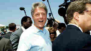 In 1992, candidate Bill Clinton, seen here in Los Angeles a few days before California's primary, surprised some people by defeating former (and future) California Gov. Jerry Brown. Even if Brown had won the state, though, Clinton would have had more delegates.