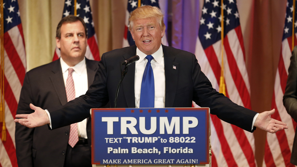 Ever since New Jersey Gov. Chris Christie endorsed Trump (and stood behind him at a Super Tuesday event), he has been on many people's lists of likely Trump running mates. (Bloomberg/Bloomberg via Getty Images)