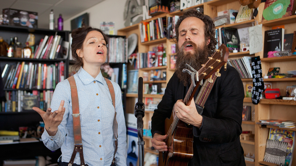 Tiny Desk Concert with Sam Beam & Jesca Hoop. (NPR)