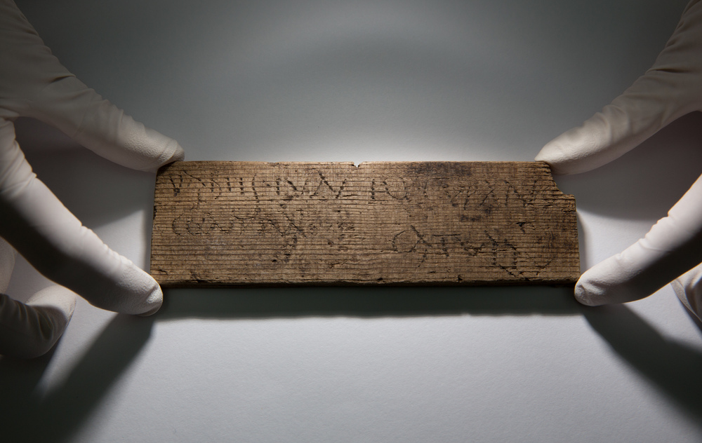 This Roman waxed writing tablet, dated A.D. 80-90/5, reads