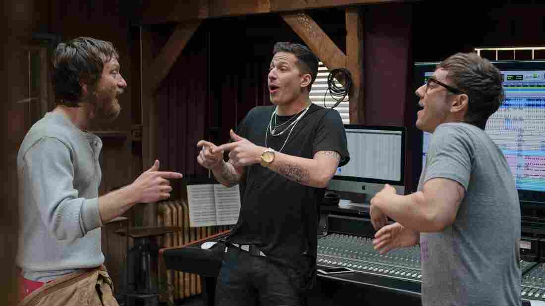 Akiva Schaffer, Andy Samberg and Jorma Taccone of The Lonely Island team up in Popstar: Never Stop Never Stopping.