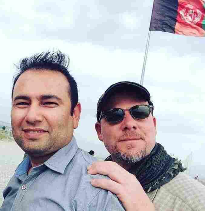 Zabihullah Tamanna (left) and David Gilkey in Afghanistan on June 2.