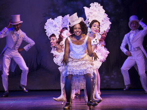 """Adrienne Warren and company perform """"I'm Just Wild About Harry"""" in the musical Shuffle Along, one of five shows Scott Rudin is currently producing on Broadway."""