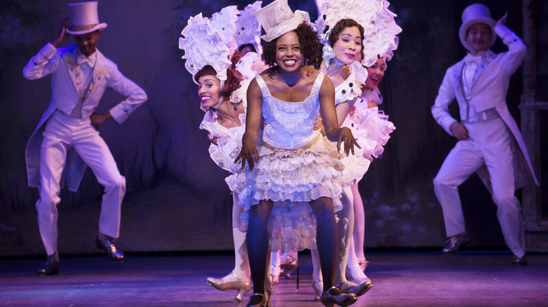 "Adrienne Warren and company perform ""I'm Just Wild About Harry"" in the musical Shuffle Along, one of five shows Scott Rudin is currently producing on Broadway."