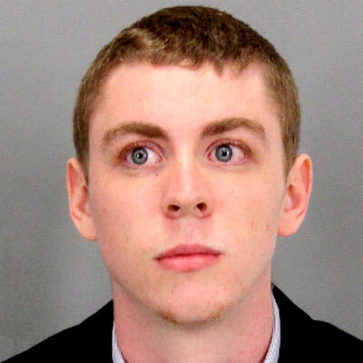 A booking photo provided by the Santa Clara County sheriff shows Brock Turner, whose sentence of six months in jail for sexually assaulting an unconscious woman has caused outrage.