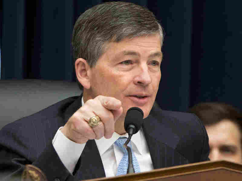 House Financial Services Committee Chairman Jeb Hensarling, shown here at a hearing in March, claims many of the provisions in Dodd-Frank have hurt the economy.
