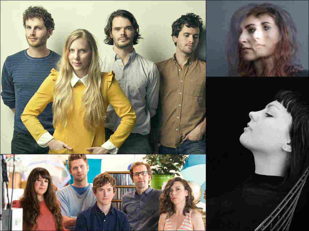 Clockwise from upper left: River Whyless, Hannah Georgas, Angel Olsen, Ages And Ages