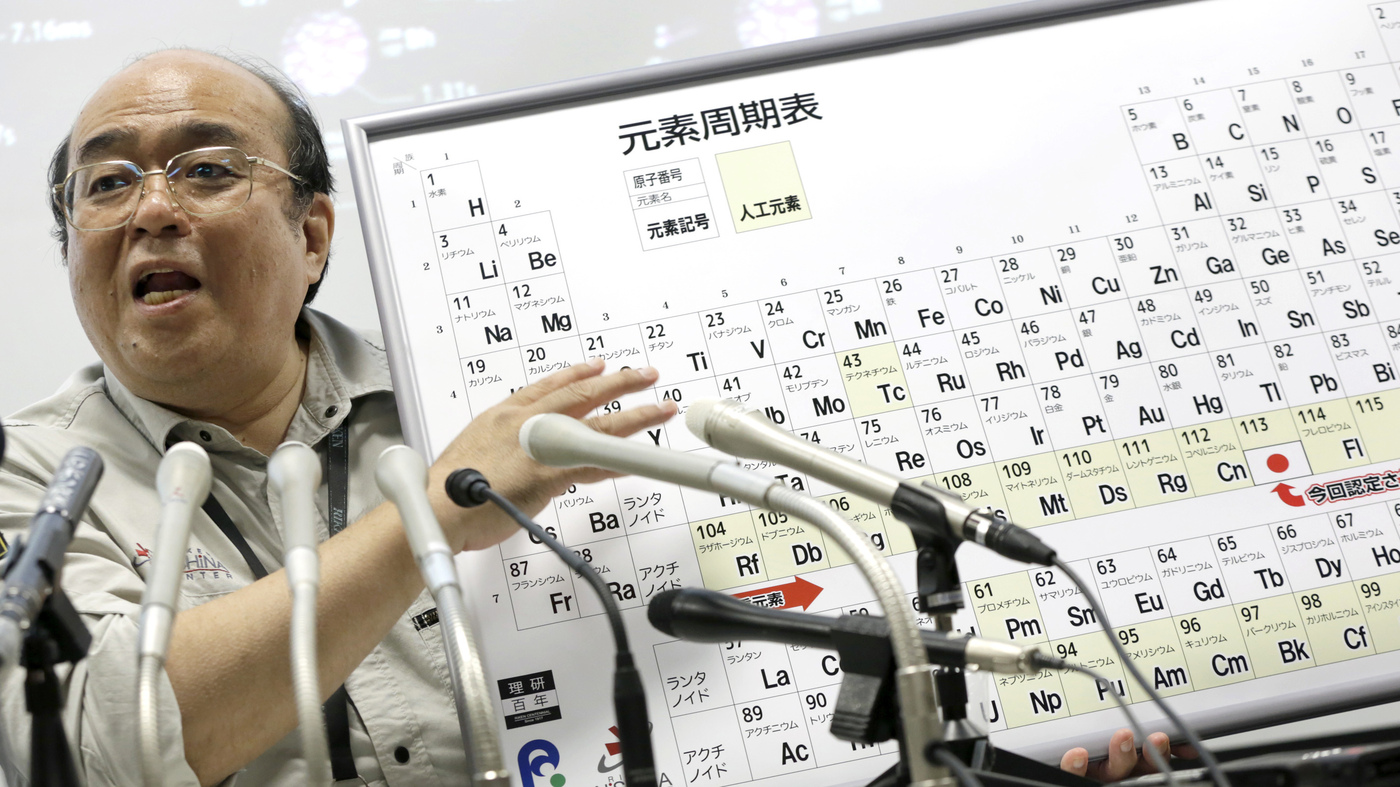 Hello nihonium scientists name 4 new elements on the periodic scientists name 4 new elements on the periodic table the two way npr gamestrikefo Images