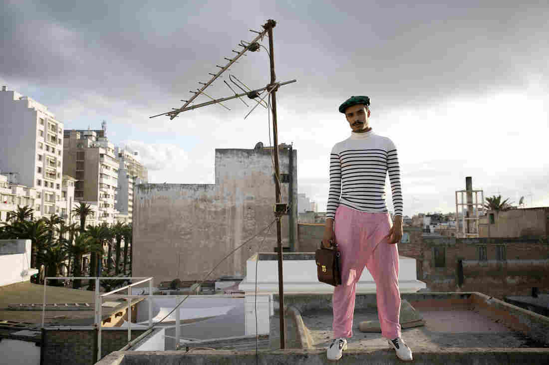 Amine Bendriouich, a fashion designer in Casablanca, Morocco.