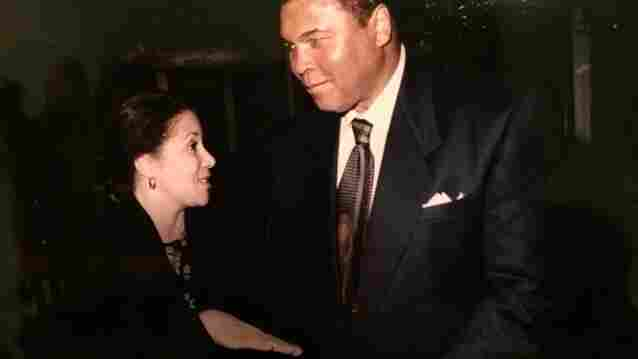 Author Karen Grigsby Bates with the late Muhammad Ali.