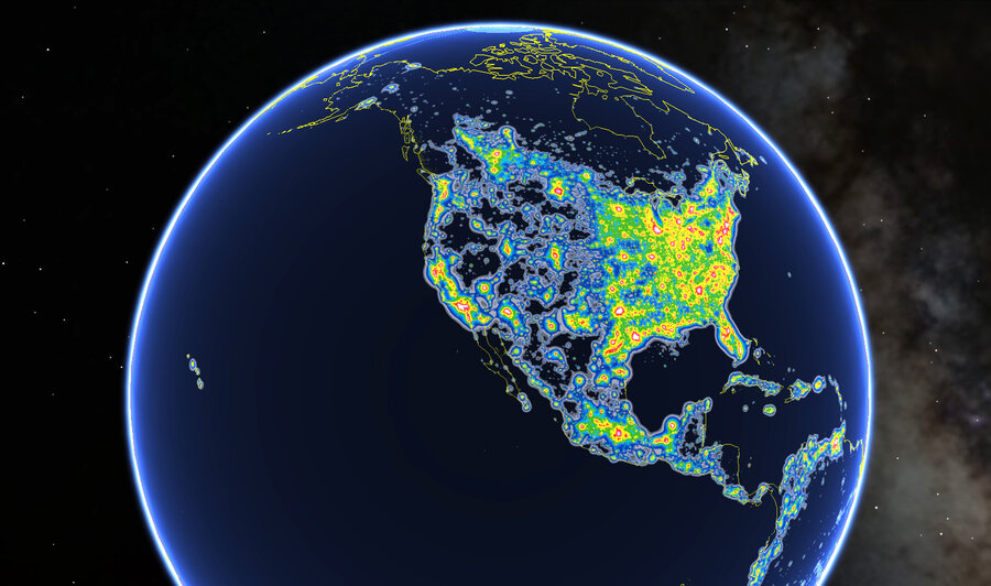 Light pollution hides milky way from 80 percent of north americans light pollution hides milky way from 80 percent of north americans atlas shows gumiabroncs Images