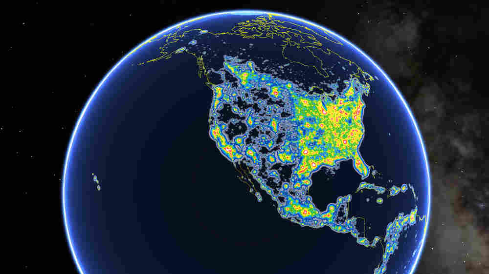 Light Pollution Hides Milky Way From 80 Percent Of North Americans, Atlas Shows