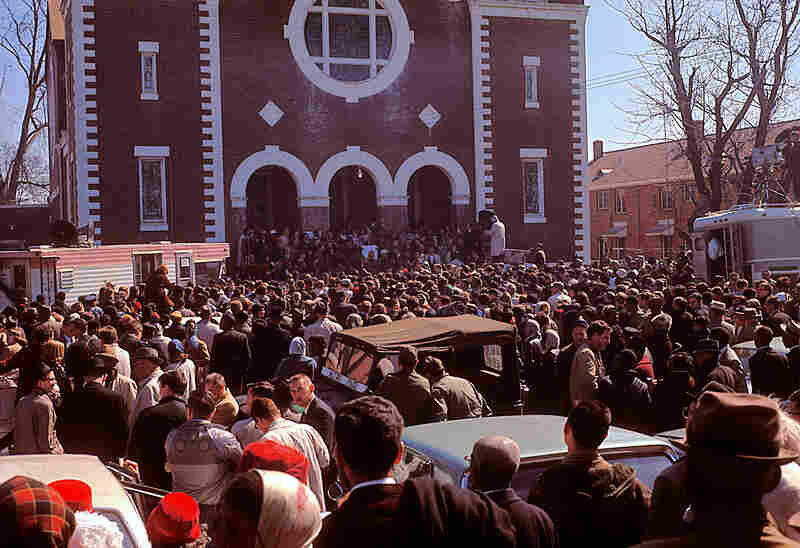 In Selma, Ala., 1965: the beginning of the successful march to Montgomery, Ala.