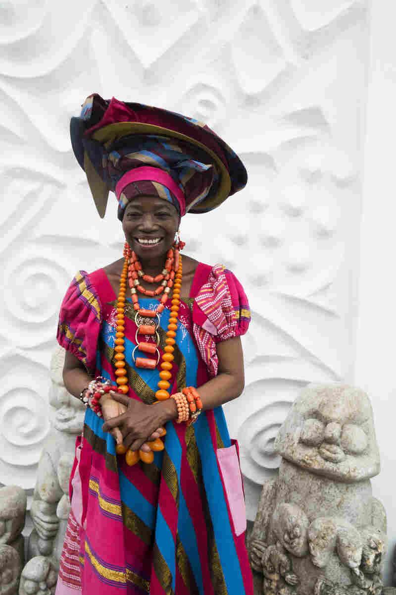 Nike Davis Okundaye, an artist and designer in Lagos, Nigeria.