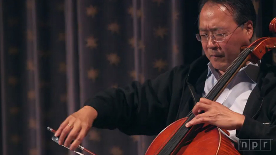 Cellist Yo-Yo Ma performs live in New York City on June 7, 2015 at a special NPR Music event. (NPR)