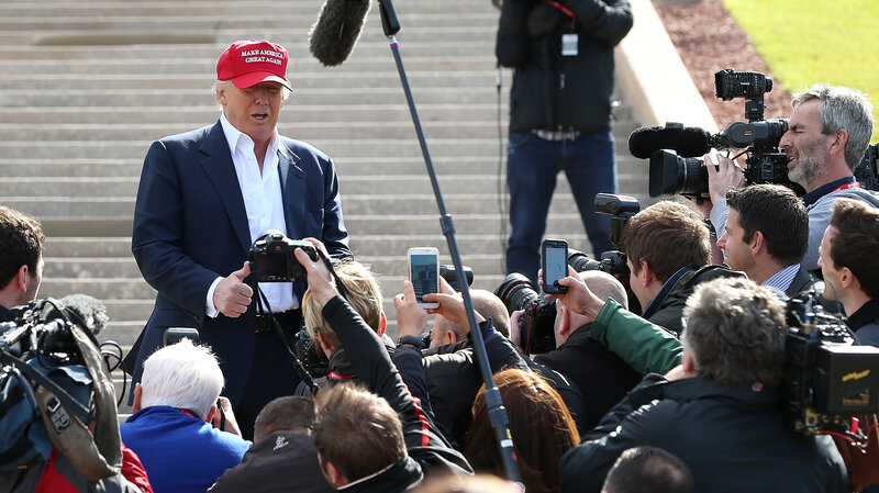Presumptive Republican nominee Donald Trump has a love/hate relationship with the press, drawing high levels of publicity while limiting access to media organizations.