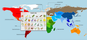A new study reveals the full extent of globalization in our food supply. The researchers put together a series of interactives that visualize the results. Here's a screen grab, which shows crops that originate in South Asia.