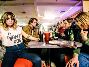 "KUTX in Austin, Texas, loves A Giant Dog's new song ""& Rock & Roll."""