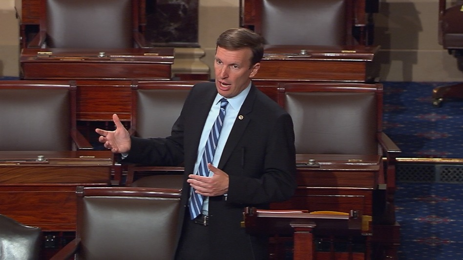 """Sen. Chris Murphy of Connecticut said on Twitter that he was prepared to """"talk about the need to prevent gun violence for as long as I can."""" (AP)"""