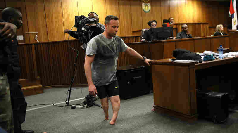 Pistorius Walks Without His Prosthetic Legs In Dramatic Show At Sentencing Hearing