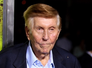 Sumner Redstone attends a film premiere in Los Angeles in 2012.
