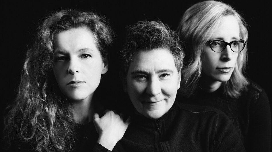 """Collaboration is one of the finest gifts of artistry,"" k.d. lang (center) says. Together, she, Neko Case (left) and Laura Veirs (right) are case/lang/veirs. (Courtesy of the artist)"