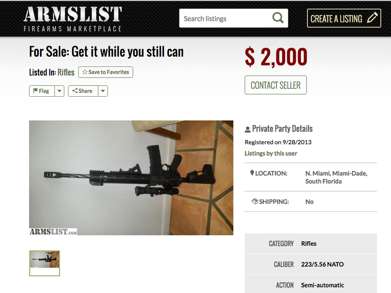 Armslist, A 'Craigslist For Guns': Semi-Automatics Without A