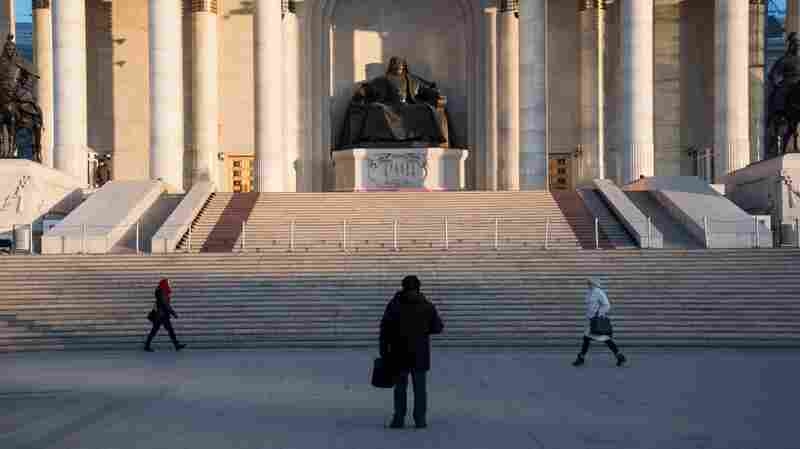 Care to visit the statue of Genghis Khan in front of Ulaanbaatar's Parliament House? Better direct your steps to Undulations.Cheer.Androids.
