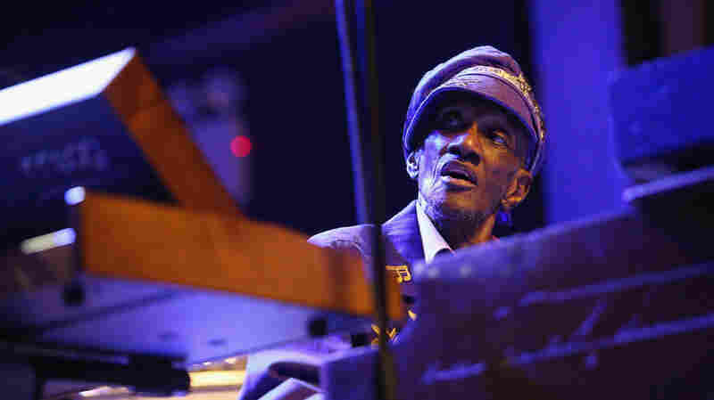 Bernie Worrell performs at the Black Rock Coalition Presents: All The Woo In The World — An All-Star Celebration benefit concert on April 4 in New York City. The concert was raising money for Worrell's medical costs.