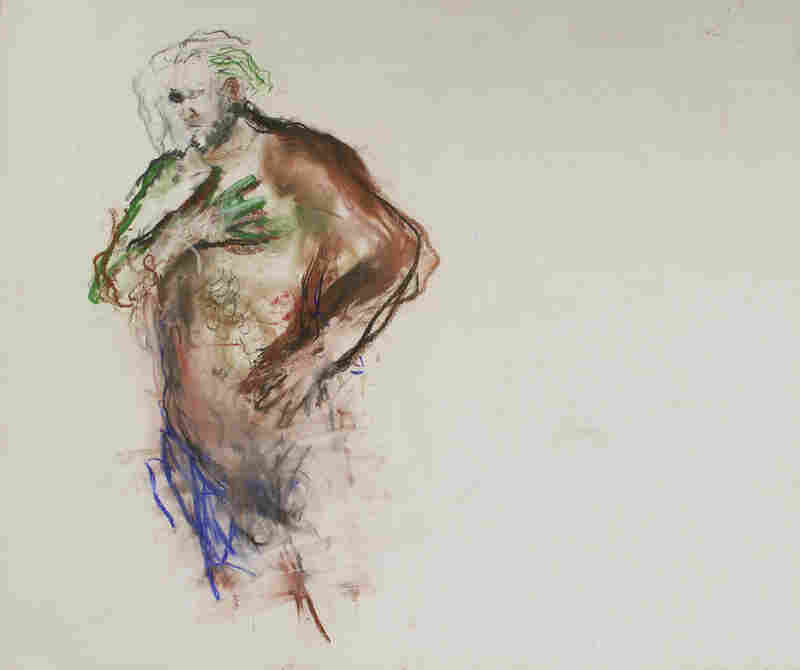 Harvey, by June Leaf c. 2004–05. Pastel and charcoal on paper, 29 1/2 × 34 1/2in. Collection of the artist