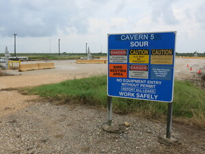 One of the sites for the Department of Energy's Strategic Petroleum Reserve lies within salt caverns 2,000 feet below the ground near Freeport, Texas.