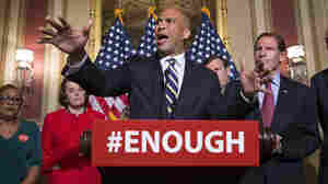 Sen. Cory Booker, D-N.J., joins Senate Democrats in calling for stricter gun control legislation in the aftermath of the mass shooting in Orlando last week.
