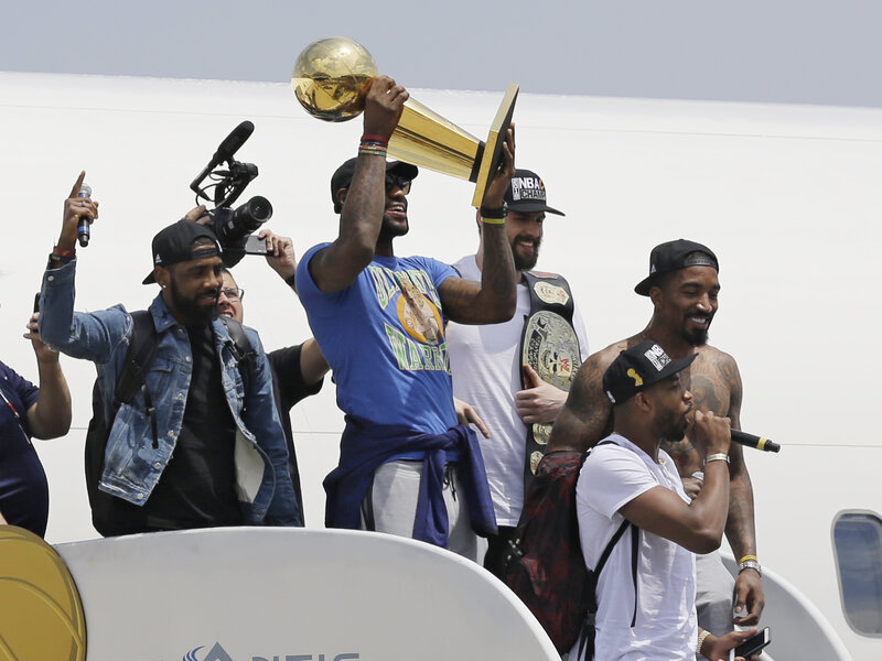 578726322238 The Return Of The King  LeBron Brings NBA Trophy Home To Cleveland