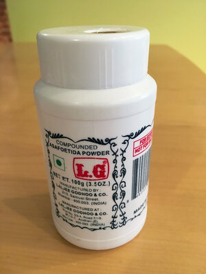 Due to its pungent smell, hing powder is usually stored in an airtight container.