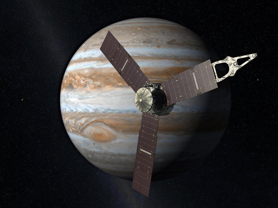 Juno enters Jupiter's orbit Courtesy of JPL/NASA