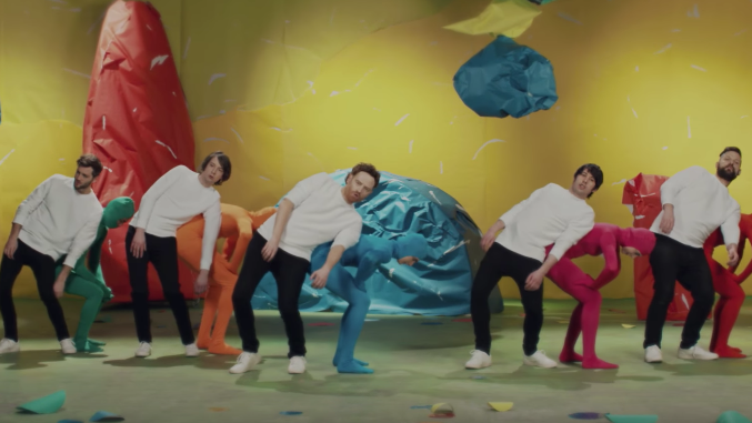 "Royal Canoe in a scene from their new video for the song ""Somersault"""