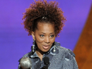 Terry McMillan accepts the award for outstanding literary work, fiction, for Getting to Happy at the 42nd NAACP Image Awards in 2011 in Los Angeles.