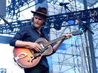 """Wesley Schultz, lead singer of The Lumineers, performs at California's Irvine Meadows Amphitheater on May 14. The band started working with Yondr to create a """"phone-free zone"""" at its concerts."""