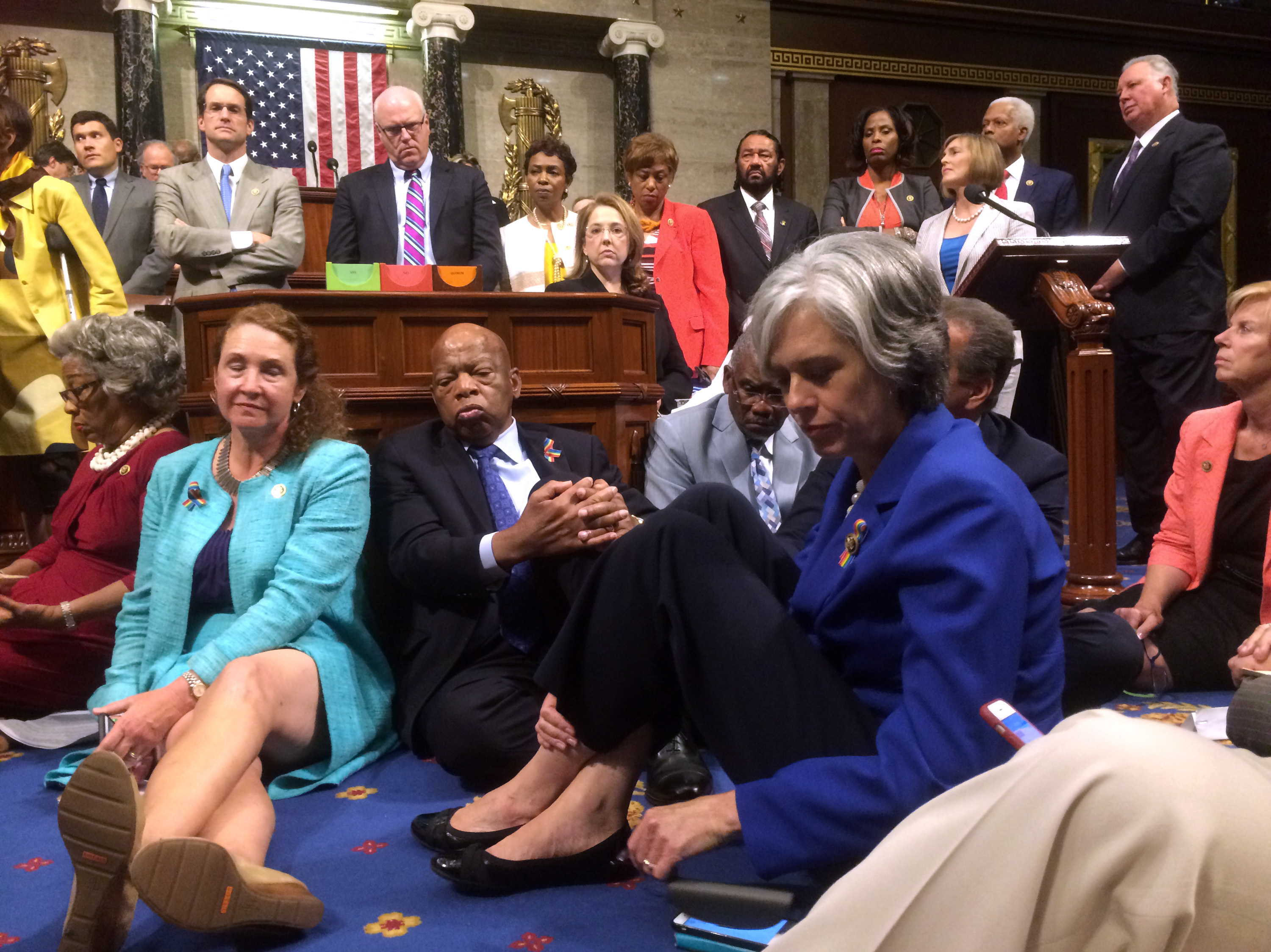 Demanding Action On Gun Control, House Democrats Stage Sit-In