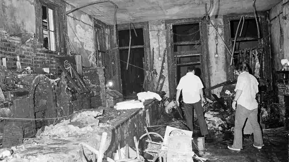 A view inside the UpStairs Lounge after the fire that killed 32 people on June 25, 1973. Many of the victims were there for a meeting of the Metropolitan Community Church, an LGBT-affirmative church founded by the Rev. Troy Perry.