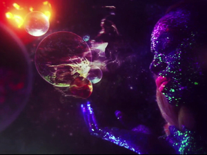 """A still from D∆WN's """"Not Above That"""" video."""