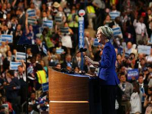 Elizabeth Warren speaks at the Democratic National Convention on Sept. 5, 2012 in Charlotte, N.C.